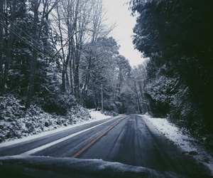 drive, road, and snow image