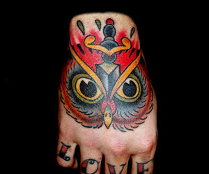 hand tattoo, love tattoo, and finger tattoo image