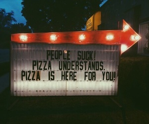 people and pizza image