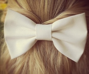 hair bow and white image