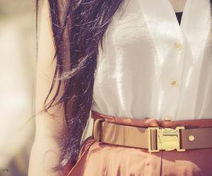 fashion, belt, and hair image
