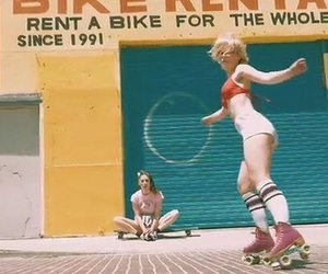 90s, bright, and rollerblades image