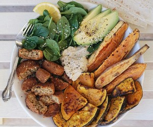 vegan and healthy food image
