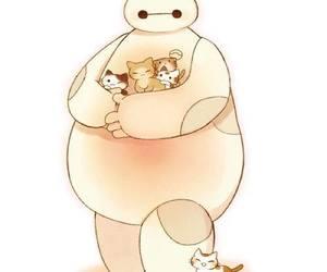 cat, baymax, and big hero 6 image