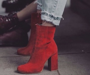 fashion, red, and shoes image