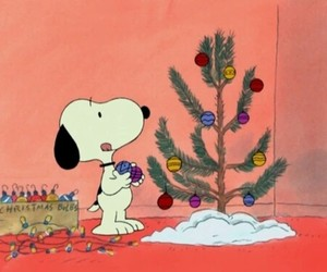 aesthetic, snoopy, and christmas image