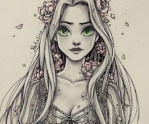 princess, disny, and repunzil image