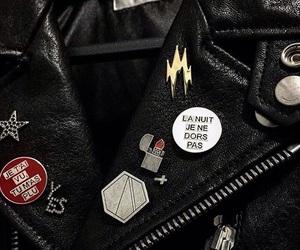 jacket, black, and leather image