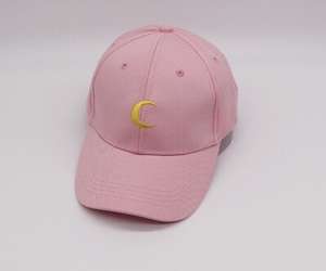 cap, pink, and fashion image