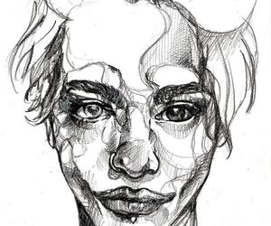 alternative, art, and portrait image