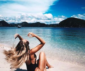 beach, blogger, and blonde image