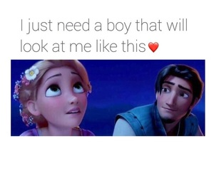 love, tangled, and boy image