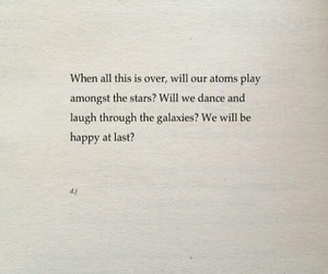 atoms, galaxy, and happiness image