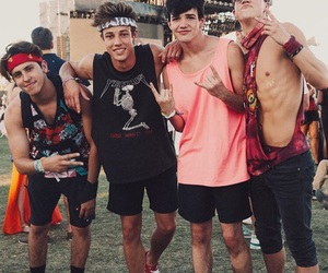 cameron dallas, coachella, and aaron carpenter image
