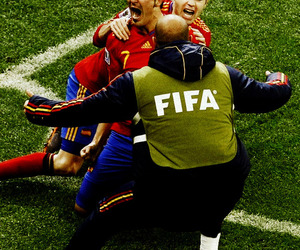 South Africa 2010, david villa, and andres iniesta image