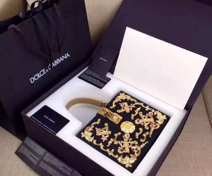 bag, luxury, and gold image