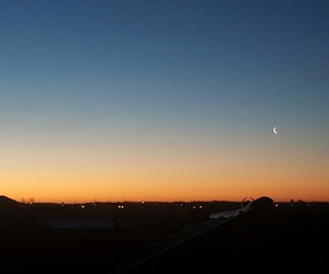 early morning, moon, and skies image