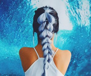 blue, hair, and braid image