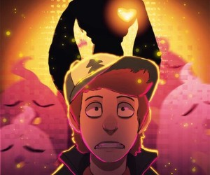 crossover, mystery skulls, and gravity falls image