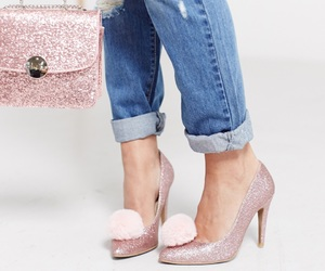 bag, boyfriend jeans, and clutch image