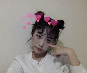 asian, girl, and heart image
