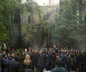 tv show, the 100, and the dropship image