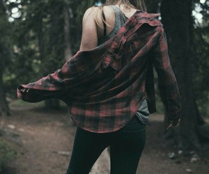 flannel, grunge, and red image