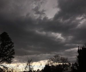 black, clouds, and Darkness image