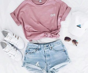 fashion, shorts, and outfits image