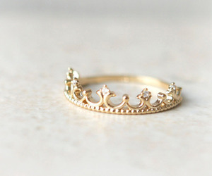 ring, gold, and crown image