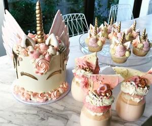 cake, dessert table, and unicorn image