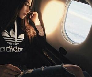 adidas, girl, and travel image