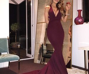 prom dress and burgundy prom dress image