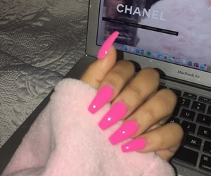 pink and nails image