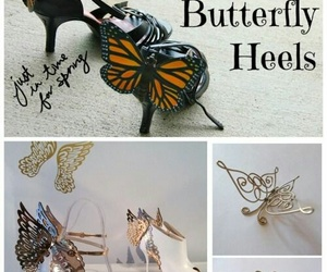butterfly, diy, and shoe design image