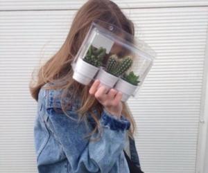girl, grunge, and cactus image