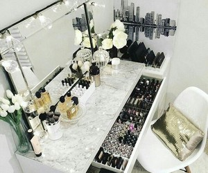 makeup, vanity, and decor image