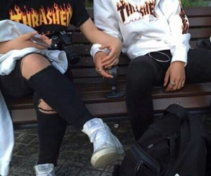 couple, thrasher, and tumblr image