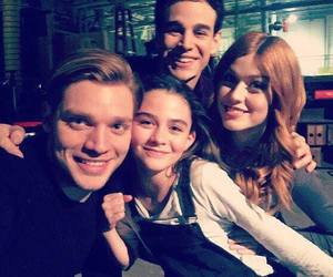 katherine mcnamara, dominic sherwood, and shadowhunters image
