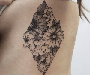 flowers, tattoo, and simple image