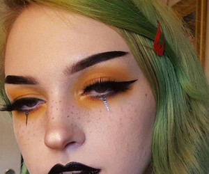 gothic, grunge, and makeup image