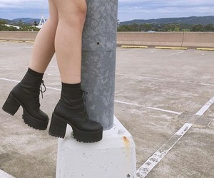 boots, grunge, and gothic image