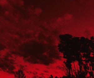 photography, red, and spooky image