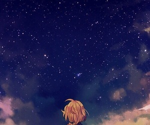 anime, stars, and sky image