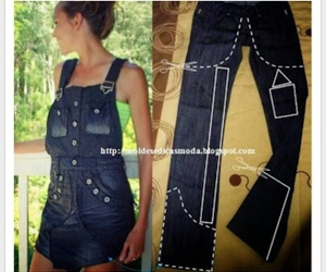 diy, jeans, and clothes image