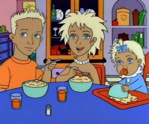 anime, blonde, and cartoon image