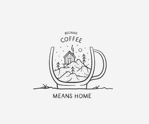 art, coffee, and home image