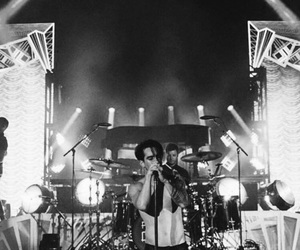 black and white, brendon urie, and panic at the disco image