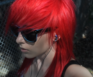 red hair and red image