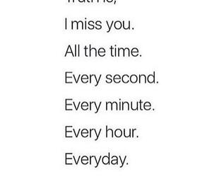 miss, sad, and love image